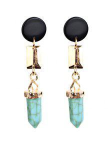 Boucles D'oreilles Artificielle En Turquoise Géométriques - Vert Clair