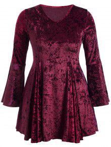 Robe En Velours Clair - Bourgogne 2xl