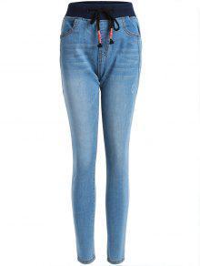 بنطلون جينز ضيق - ازرق M