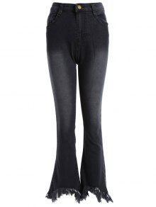 بنطلون جينز ضيق - أسود S