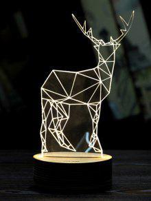 عيد ميلاد سعيد الغزلان 3D ليد ضوء الليل - أبيض