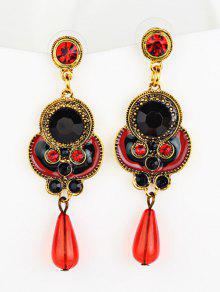 Rhinestone Faux Gem Bead Drop Earrings