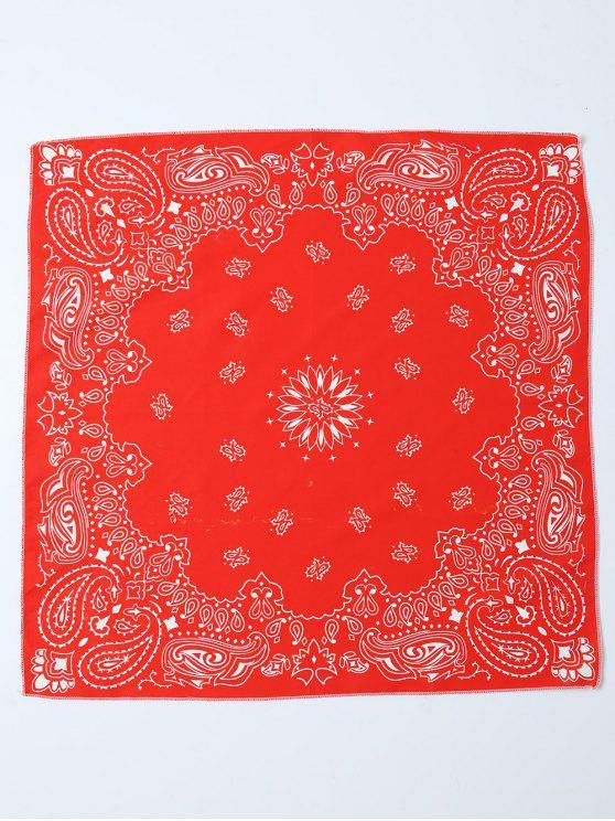 Paisley floral impreso Bandana - Rojo
