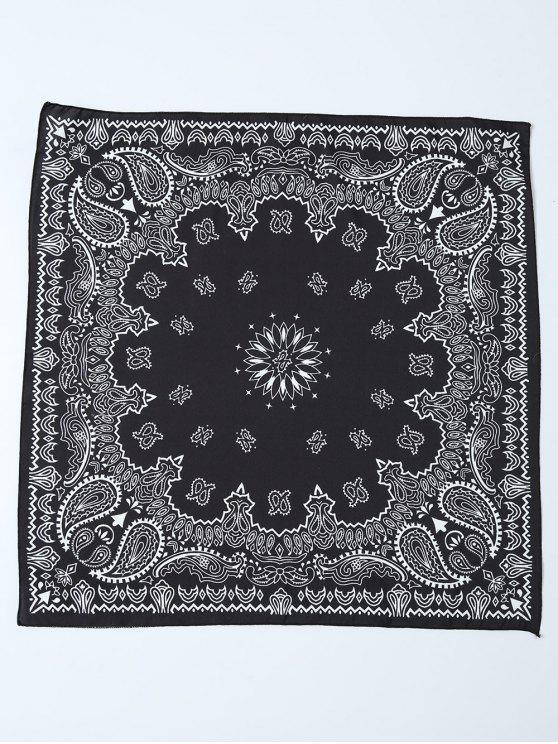 Paisley Bandana imprimé floral - Noir