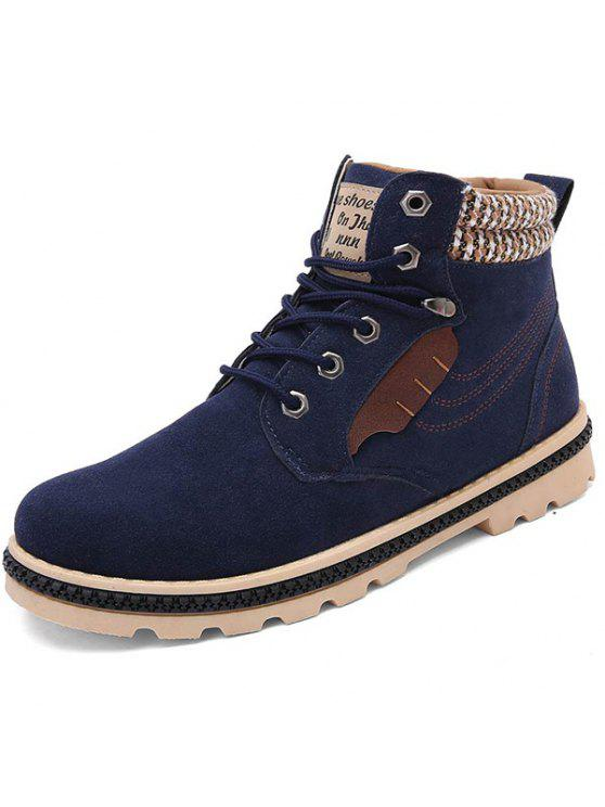 اللون كتلة التعادل حتى خياطة الأحذية - ازرق غامق 40