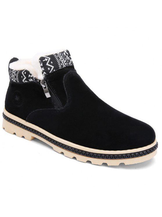 Colour Block Zipper Zigzag Boots - Black 43 visit online Cheapest online fashion Style cheap price pQGhlCvcy