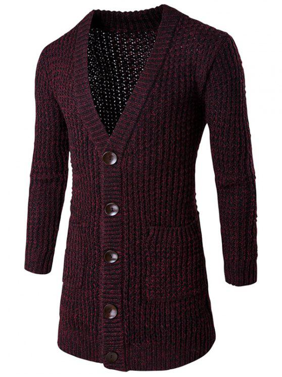 6e34801a7c7994 35% OFF  2019 Pocket Button Front V Neck Knitted Cardigan In ...