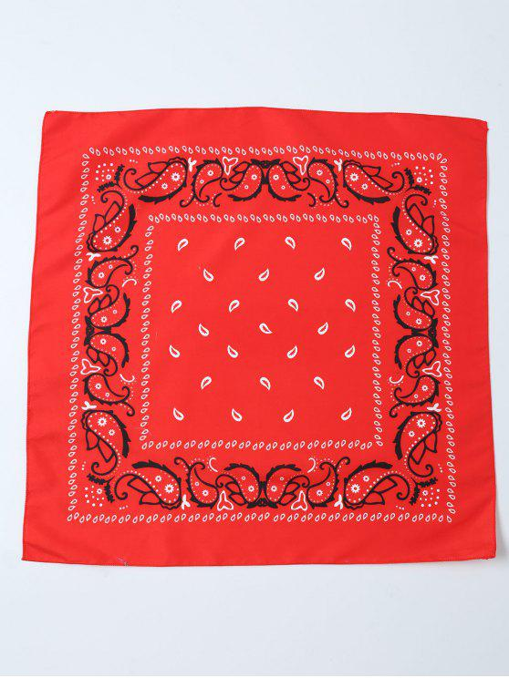 latest Paisley Printed Bandana - RED