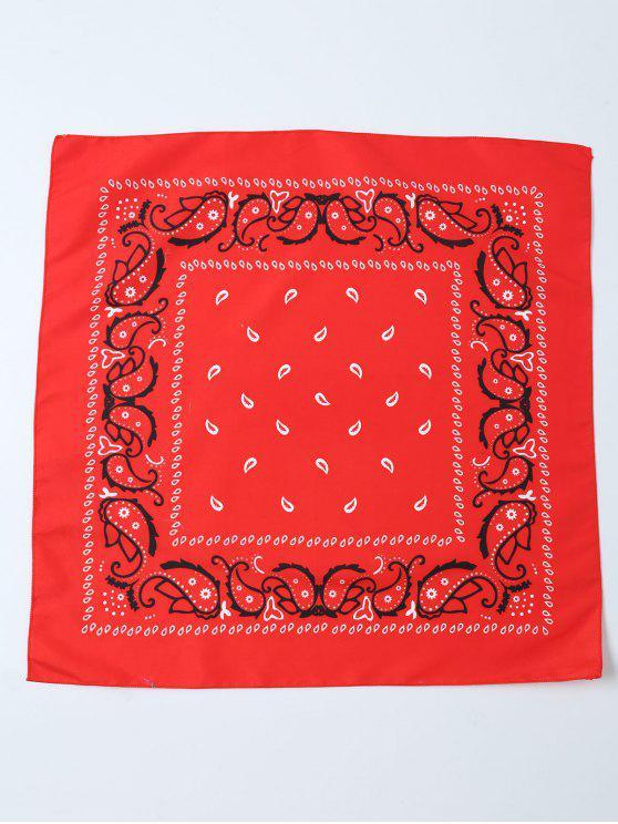 Impreso Paisley Bandana - Rojo