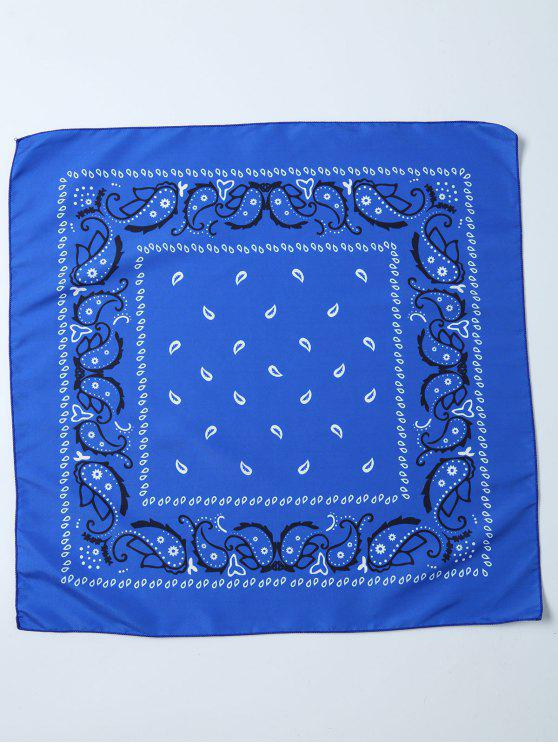 Paisley Impresso Bandana - Azul