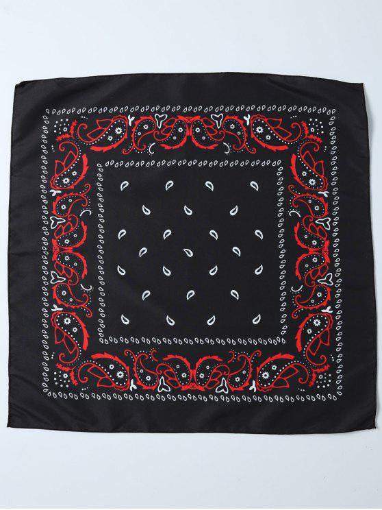 chic Paisley Printed Bandana - BLACK
