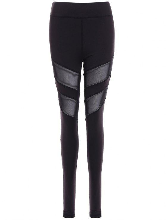 buy Running Mesh Insert Leggings - BLACK M