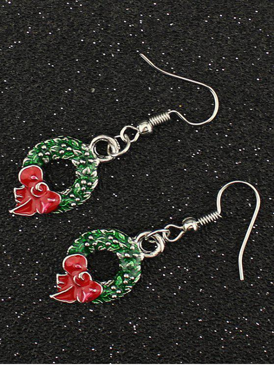affordable Christmas Gift Garland Earrings - SILVER