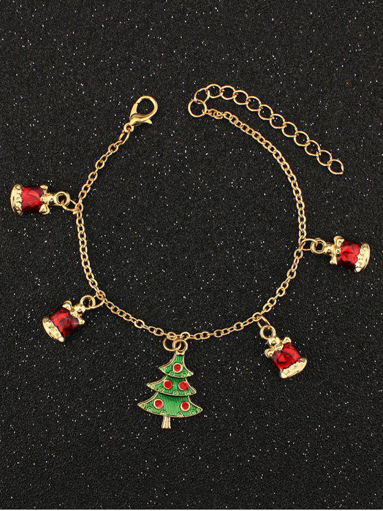 Árvore de Natal do cristal de rocha Charm Bracelet - Dourado
