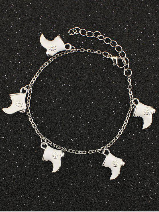 sale Christmas Boots Moon Charm Bracelet - WHITE