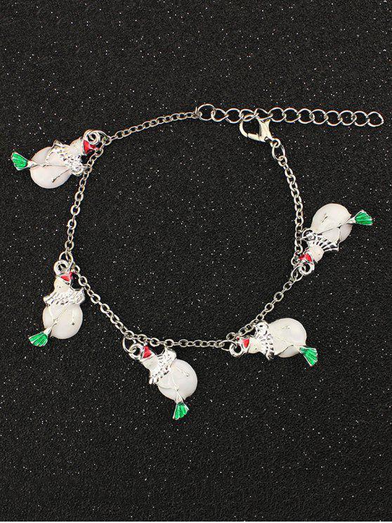 hot Snowman Christmas Bracelet - WHITE