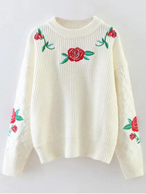 Vintage Wool Embroidered Sweater 50/60's - Hand loomed - Hong Kong