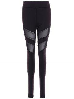 Running Mesh Insert Leggings - Black Xl