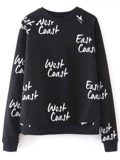 Sweatshirt à Manches Raglan Côte Ouest  - Noir S