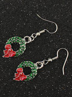 Christmas Gift Garland Earrings - Silver