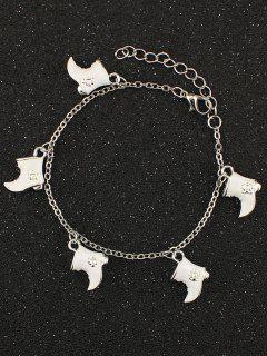 Bracelet à Breloques De Bottes De Lune De Noël - Blanc