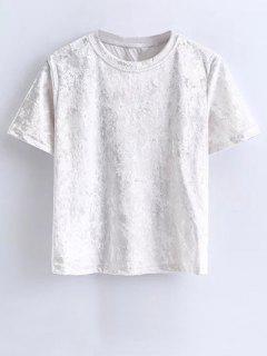 T-shirt Courtes  Manches Velvet - Blanc S