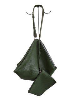 Sac D'épaule Texturé En Forme Triangulaire - Vert