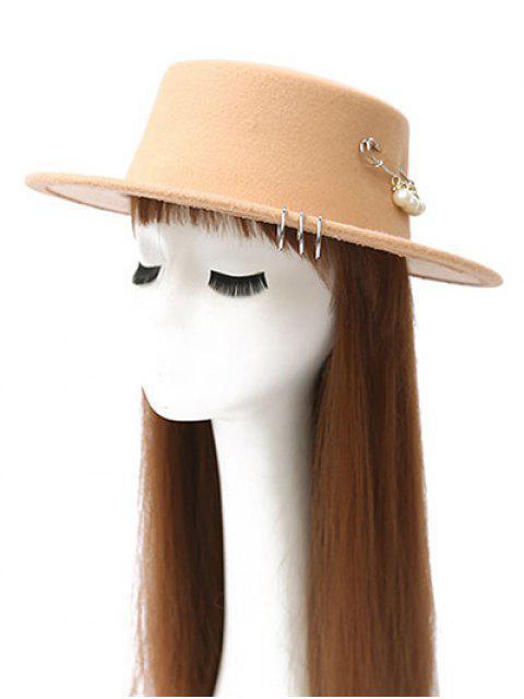 affordable Circle Hoop Faux Pearl Embellished Hat -   Mobile
