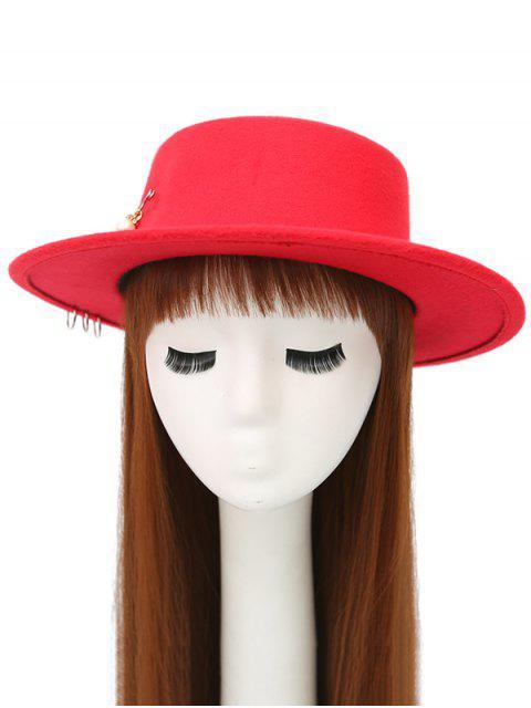 buy Circle Hoop Faux Pearl Embellished Hat -   Mobile