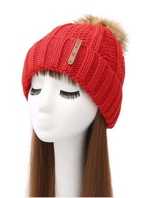 affordable Striped Pom Ball Knitted Beanie -   Mobile