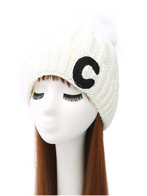 best Letter C Pom Ball Knitted Beanie -   Mobile