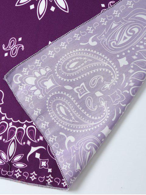 shop Paisley Floral Printed Bandana - PURPLE  Mobile