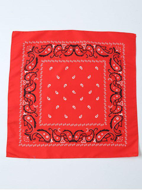 latest Paisley Printed Bandana - RED  Mobile