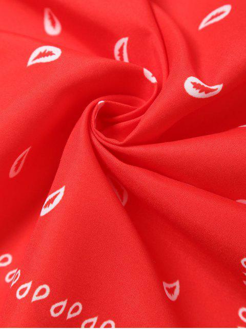 Foulard imprimé paisley - Rouge  Mobile