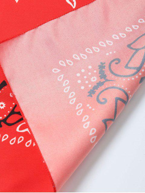 latest Paisley Printed Bandana - RED  Mobile