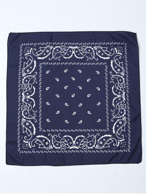 trendy Paisley Printed Bandana - PURPLISH BLUE  Mobile