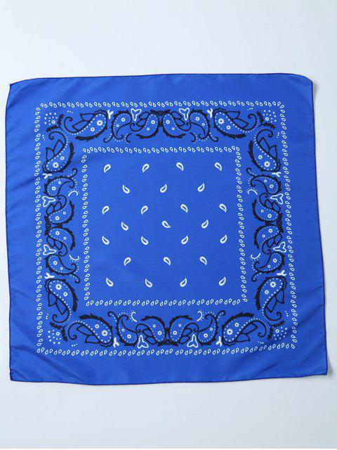 fashion Paisley Printed Bandana - BLUE  Mobile