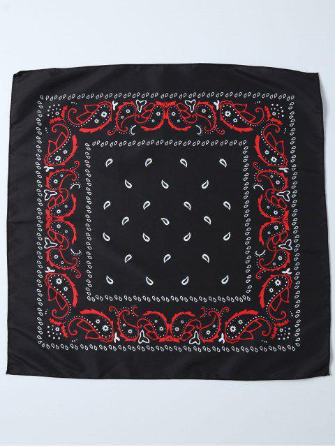 Schal mit Paisley Druck - Schwarz  Mobile
