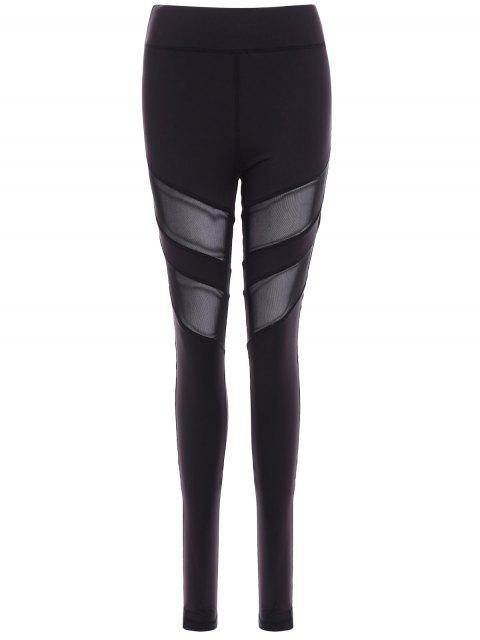 Mesh Insert Leggings Athletic - Noir 2XL Mobile