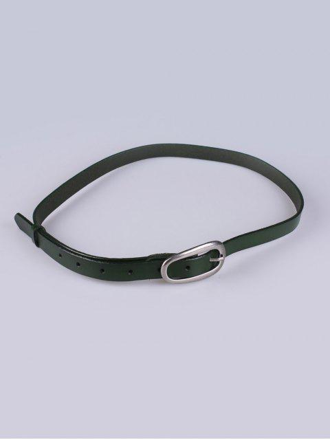 women's Faux Leather Pin Buckle Skinny Belt -   Mobile