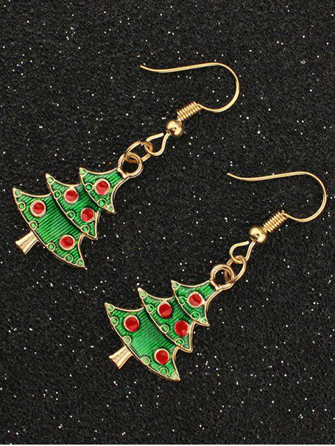 women Christmas Tree Gift Earrings - GOLDEN  Mobile