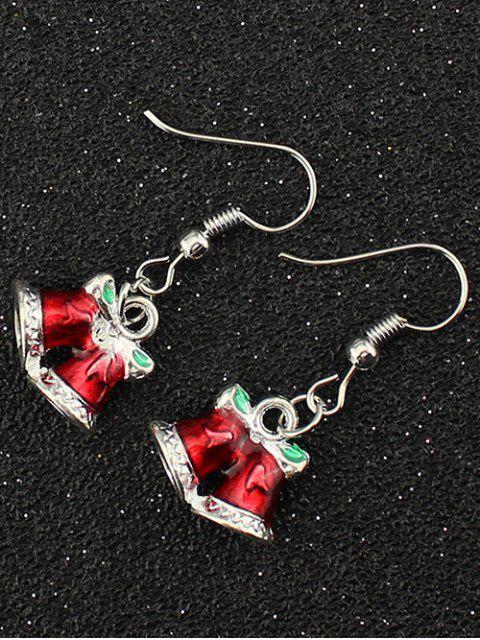 ladies Christmas Bowknot Bells Drop Earrings -   Mobile