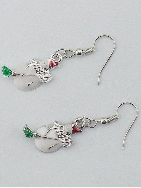 lady Christmas Snowman Gift Earrings -   Mobile