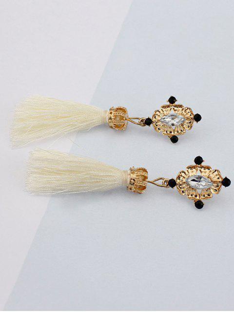 online Rhinestone Tassel Crown Earrings -   Mobile