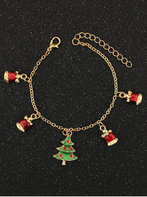 Bracelet Charmant en Strass à Arbre de Noël - Or  Mobile
