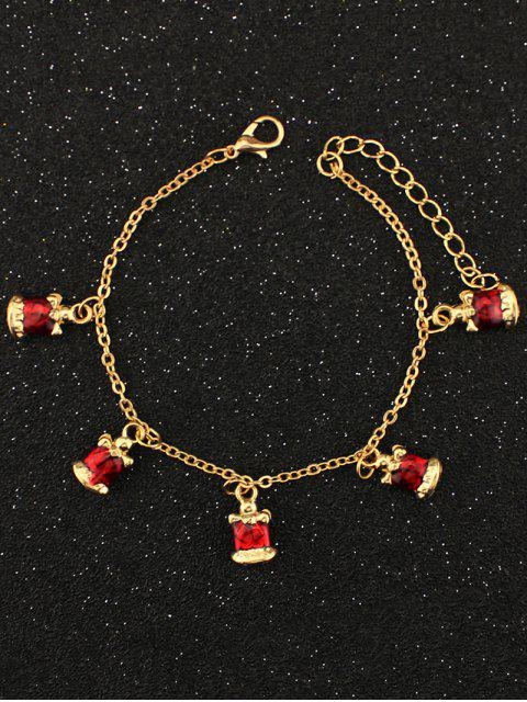 ladies Christmas Bells Bracelet - GOLDEN  Mobile