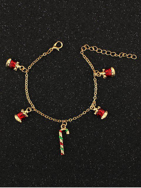 outfits Christmas Bells Candy Cane Bracelet -   Mobile