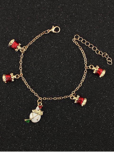 chic Christmas Snowman Bells Charm Bracelet -   Mobile