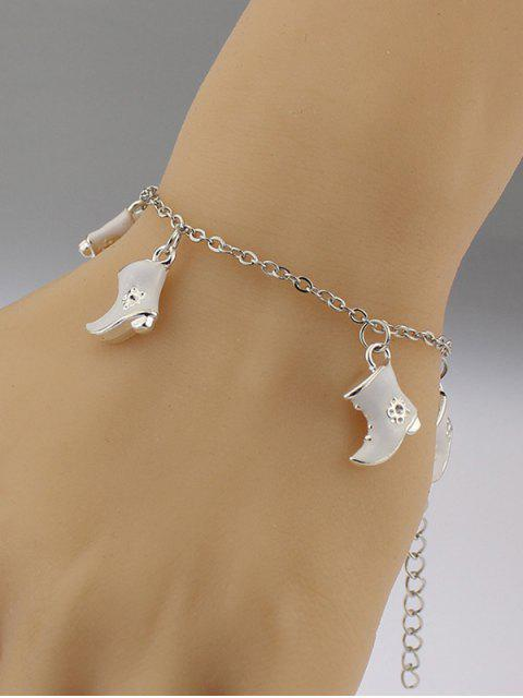 sale Christmas Boots Moon Charm Bracelet -   Mobile