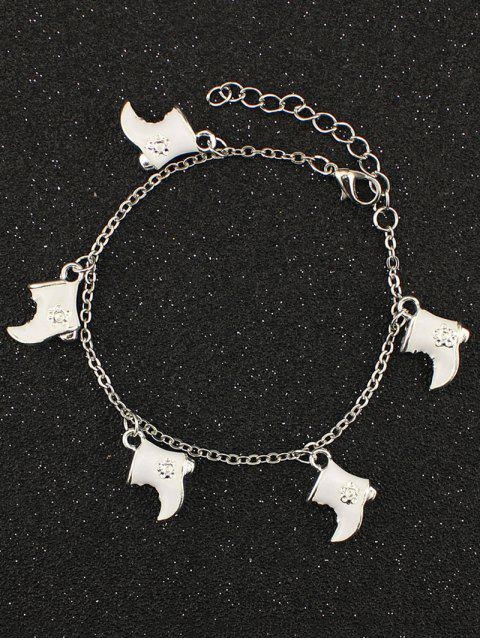 sale Christmas Boots Moon Charm Bracelet - WHITE  Mobile